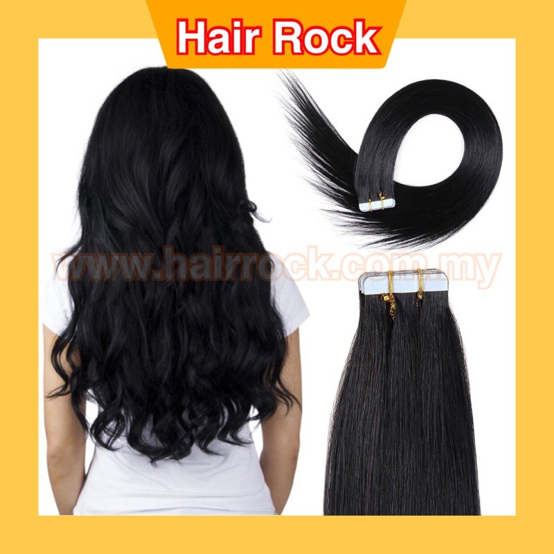 Natural Black #1B Tape In 20 PCS Crafted With Human Remy Hair